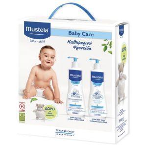 Mustela Promo Pack Gentle Cleansing Gel Hair & Body 500ml & Hydra-Bebe Body Lotion 500ml & ΔΩΡΟ Αρκουδάκι