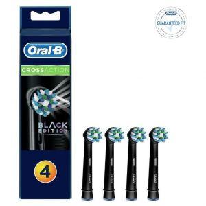 Oral-B Cross Action Black Edition Ανταλλακτικά, 4τμχ