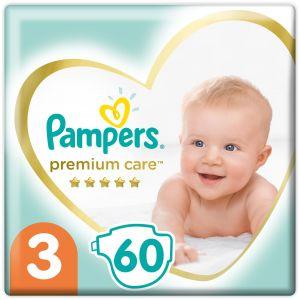 Pampers Premium Care Πάνες Jumbo Pack Νο3 (6-10kg), 60τμχ