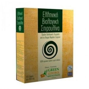 Green Control Ελληνική Bio-Spirulina Νιγρίτας 400mg, 120 tablets
