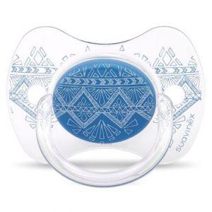 Suavinex Πιπίλα Σιλικόνης με Φυσιολογική Ροή Haute Couture Premium Blue 0-4m, 1τμχ