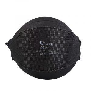 Laianzhi Μάσκες υψηλής προστασίας FFP2 NR χωρίς βαλβίδα YX011-B Μαύρες, 5ΤΜΧ