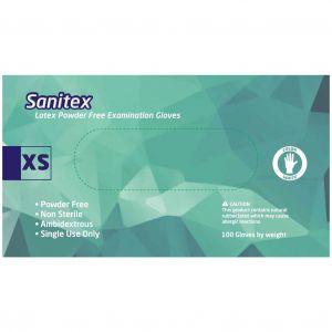 Sanitex Γάντια Εξεταστικά Λάτεξ χωρίς Πούδρα Extra Small, 100τμχ