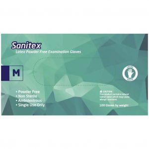 Sanitex Γάντια Εξεταστικά Λάτεξ χωρίς Πούδρα Medium, 100τμχ