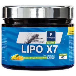 My elements Lipo x7 Powder Ανανάς-Πορτοκάλι, 300gr