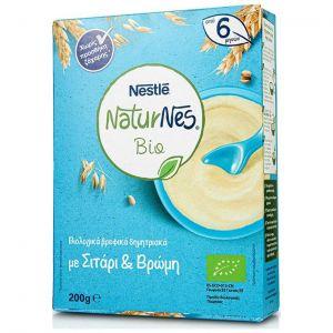 Nestle Naturnes Bio, Βιολογικά Βρεφικά Δημητριακά με Σιτάρι & Βρώμη, 200gr