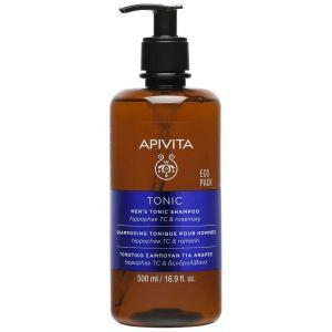 Apivita Eco Pack Men's Tonic Shampoo with Hippophae TC & Rosemary, 500ml