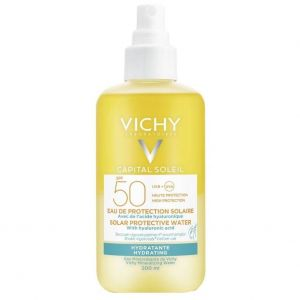 Vichy Ideal Soleil Solar Protective Water Hydrating SPF50, Ενυδατικό Νερό Προστασίας Από Τον Ήλιο με Υαλουρονικό Οξύ, 200ml