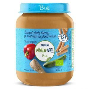 Nestle Naturnes Bio Ζυμαρικά Ολικής Άλεσης Με Παστινάκη & Γλυκιά Πιπερία, 190gr