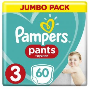 Pampers Pants Πάνες Jumbo Pack No3 (6-11kg), 60τμχ
