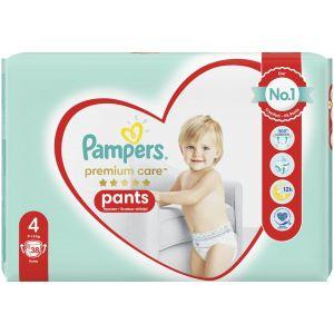 Pampers Premium Care Pants Πάνες Jumbo Pack No4(9-15kg), 38τμχ