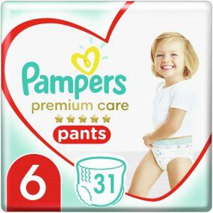 Pampers Premium Care Pants Πάνες Jumbo Pack Νo6(15+kg), 31τμχ