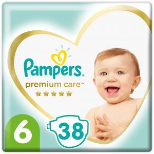 Pampers Premium Care Πάνες Jumbo Pack No.6 (13+kg), 38τμχ