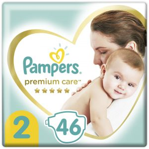 Pampers Premium Care Πάνες Value Pack No.2 (4-8kg), 46τμχ