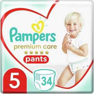 Pampers Premium Care Pants Πάνες Jumbo Pack No.5 (12-17kg), 34τμχ