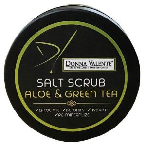 Donna Valente Salt Scrub Aloe Vera & Green Tea, 600gr