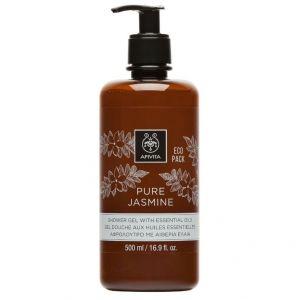 Apivita Ecopack Pure Jasmine Shower Gel, 500ml
