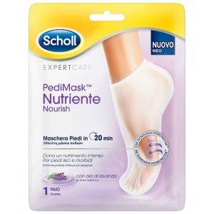 Scholl PediMask Nutriente Nourish Μάσκα Ποδιών Με Έλαιο Λεβάντας, 1 ζευγάρι