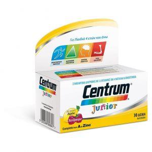 Centrum Junior Πολυβιταμινούχο Συμπλήρωμα Διατροφής για Παιδιά από 4+ ετών, με Γεύση Βατόμουρο - Λεμόνι, 30chew. tabs