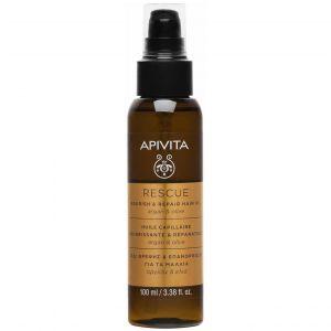 Apivita Rescue Oil, Λάδι Θρέψης & Επανόρθωσης Για Τα Μαλλιά με αργκάν & ελιά, 100ml