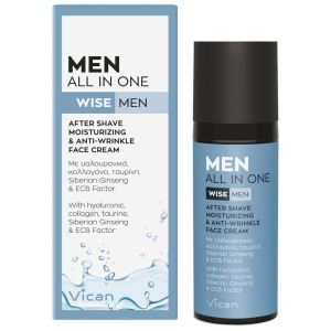 Vican Men All In One After Shave & All Day Face Cream, 50ml