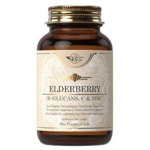 Sky Premium Life Elderberry B-Glucans Vitamin C & Zinc, 60tabs