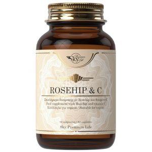 Sky Premium Life Rosehip 1000 mg & Vitamin C, 60caps