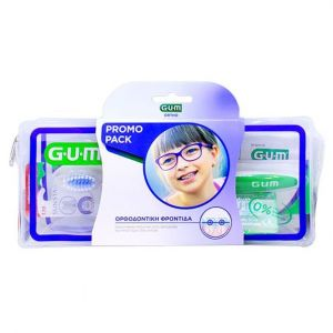 Gum Ortho Care Kit με Ορθοδοντική Οδοντόβουρτσα (124), 1τμχ, Προτεμαχισμένο Κερί Ortho (723), 1τμχ, AftaClear Gel (2400), 2x2ml, Νήμα Ortho 3 σε 1 (3220), 5τμχ