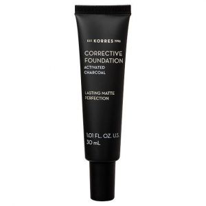 Korres Corrective Foundation SPF15 / Acf3, Διορθωτικό Make Up για Μέτριες Ατέλειες με Ενεργό Άνθρακα, 30ml