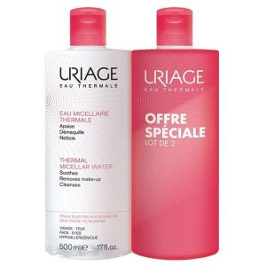 Uriage Eau Micellaire Thermale Sensitive Skin Micellar Water (1+1 ΔΩΡΟ), 2x500ml