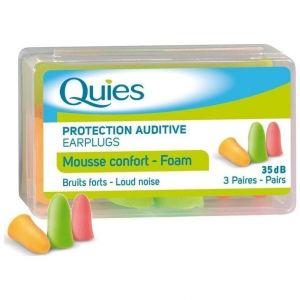 Pharmaq Quies Mousse Confort Foam Earplugs Ωτοασπίδες από Μαλακή Πολυουρεθάνη, 3 Ζεύγη