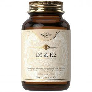 Sky Premium Life Vitamin D3 & K2, 60tabs