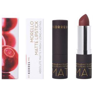 Korres Morello Matte Lipstick 55 Burgundy Leather, 3.5gr
