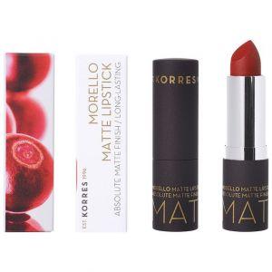 Korres Morello Matte Lipstick 57 Scarlet Suede, 3.5gr