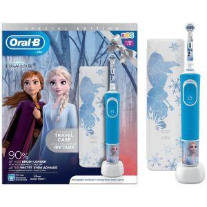 Oral-B Kids Vitality Special Edition Ηλεκτρική Οδοντόβουρτσα Frozen 3y+ & Δώρο Θήκη Ταξιδίου