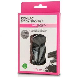 Vican Konjac Body Sponge Bamboo Charcoal Powder, 1τμχ