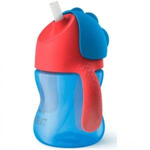 Philips Avent Bendy Straw Cup 9m+ Κύπελλο με καλαμάκι, χρώμα μπλε, 200ml