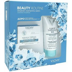 Vichy Beauty Routine Aqualia Thermal Light Rehydrating Cream, 50ml & ΔΩΡΟ Vichy Purete Thermale 3in1, 100ml