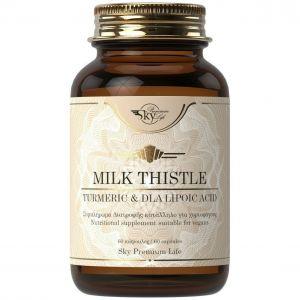 Sky Premium Life Milk Thistle Turmeric DLA Lipoic Acid, 60caps