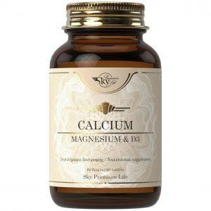 Sky Premium Life Calcium, Magnesium & D3, 60tabs