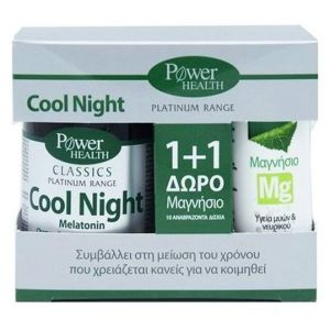 Power Health Classics Platinum Cool Night, 30caps & ΔΩΡΟ Magnesium 220mg, 10eff.tabs