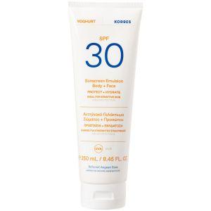 Korres Yoghurt Sunscreen Emulsion Face & Body SPF30, 250ml
