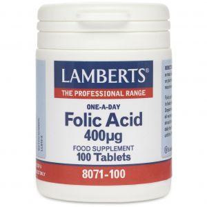 Lamberts Folic Acid 400mg, 100tabs