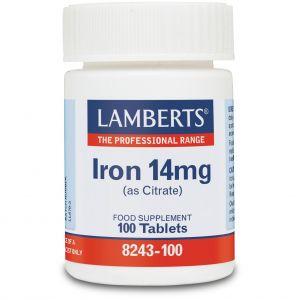 Lamberts Iron 14mg, 100tabs