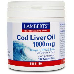 Lamberts Cod Liver Oil 1000mg, 180caps