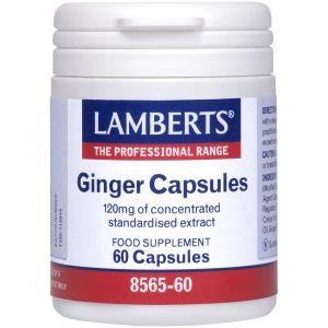 Lamberts Ginger Capsules, 60caps