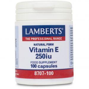 Lamberts Natural Form Vitamin E 250iu, 100caps