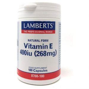 Lamberts Natural Form Vitamin E 400iu, 180caps