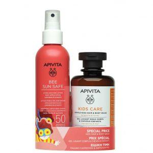 Apivita Bee Sun Safe Lotion Hydra Solaire Kids SPF50, 200ml & ΔΩΡΟ Apivita Kids Care Hair & Body Wash, 250ml
