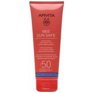 Apivita Bee Sun Safe Hydra Fresh Face & Body Milk SPF50, 200ml